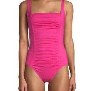 Calvin Klein Pleated One Piece Swimsuit NEW Sz 6